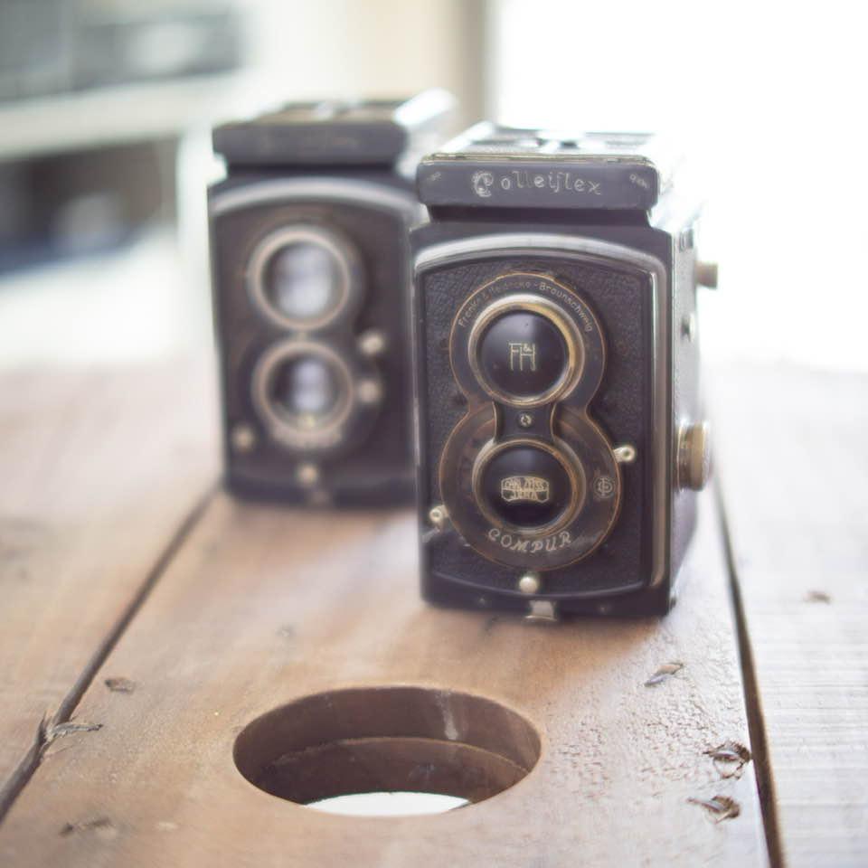 古いフィルムカメラもふた揃え